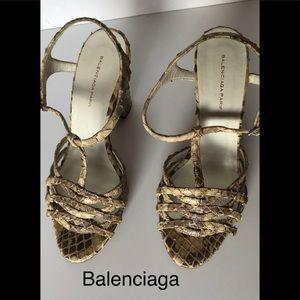 Balenciaga Paris snakeskin sandal